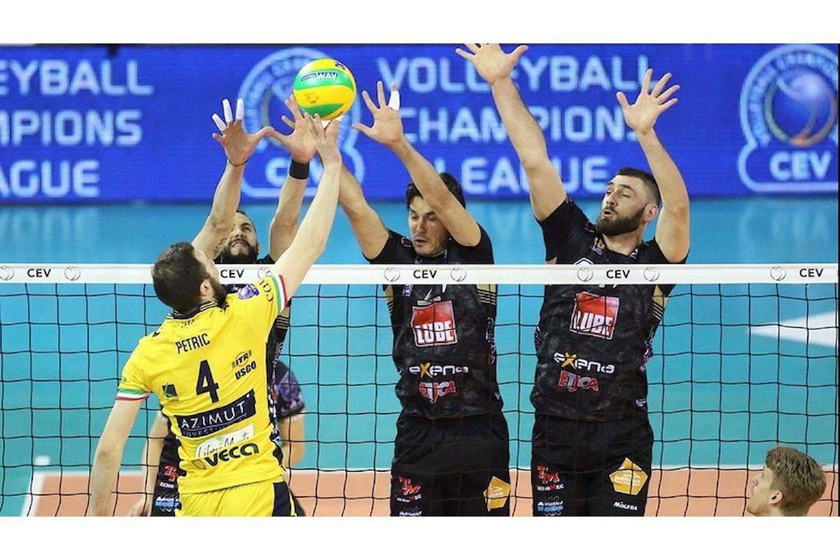 Champions League Volley: Modena-Lube 0-3. Le combinazioni per i canarini per passare il turno