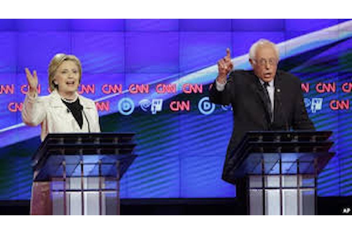 Toni duri nell'ultimo dibattito fra Sanders e Clinton, in vista delle primarie di New York