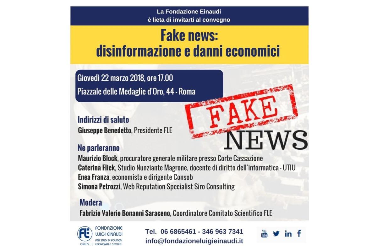 Fake News: disinformazione e danni economici