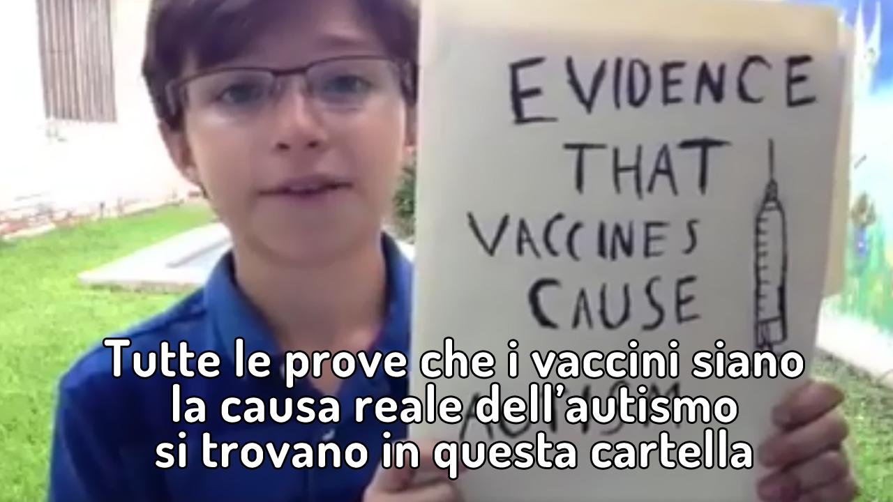 VIDEO: Ora vi spiego come i vaccini causino l'autismo!