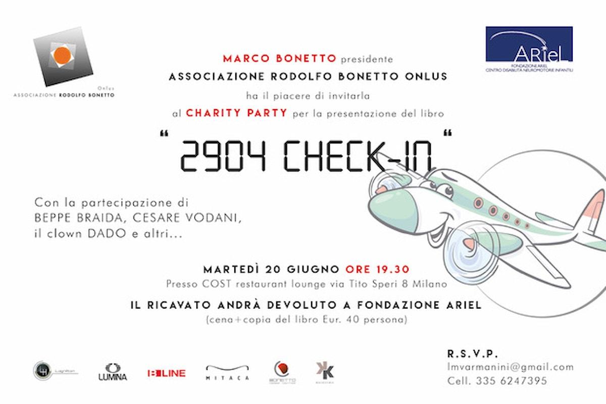 20 giugno, 2904 Check-In di Marco Bonetto al Cost Milano per il Charity Party a favore della Fondazione Ariel
