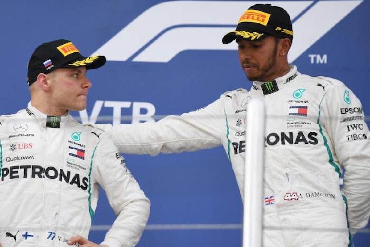 Toto Wolff ferma Bottas ed Hamilton vince a Sochi con Vettel terzo