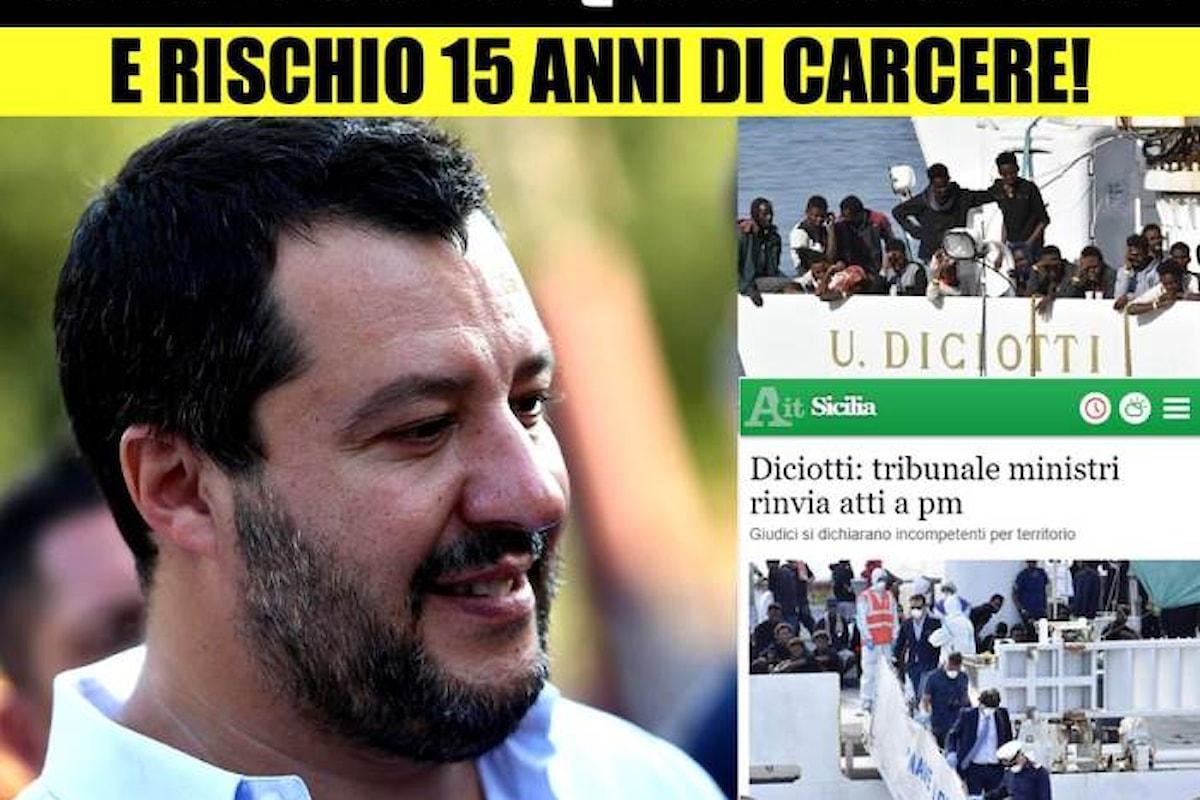 Salvini se la prende ancora contro la magistratura invitandola a chiudere l'inchiesta in cui è indagato per sequestro di persona