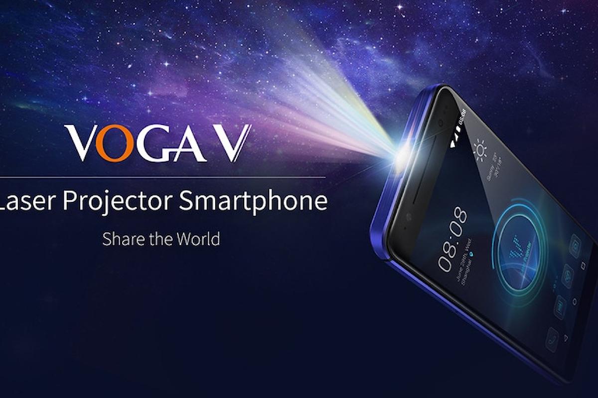 VOGA V, lo smartphone con un proiettore laser integrato