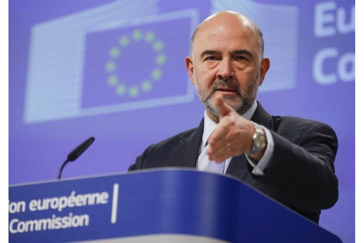 Moscovici ricorda all'Italia che la necessità primaria nella prossima legeg di Bilancio è abbassare il debito