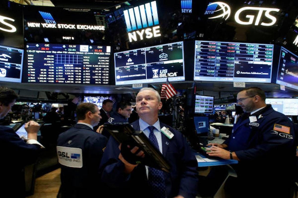 Wall Street, continua il periodo negativo. Perdite choc per il Nasdaq