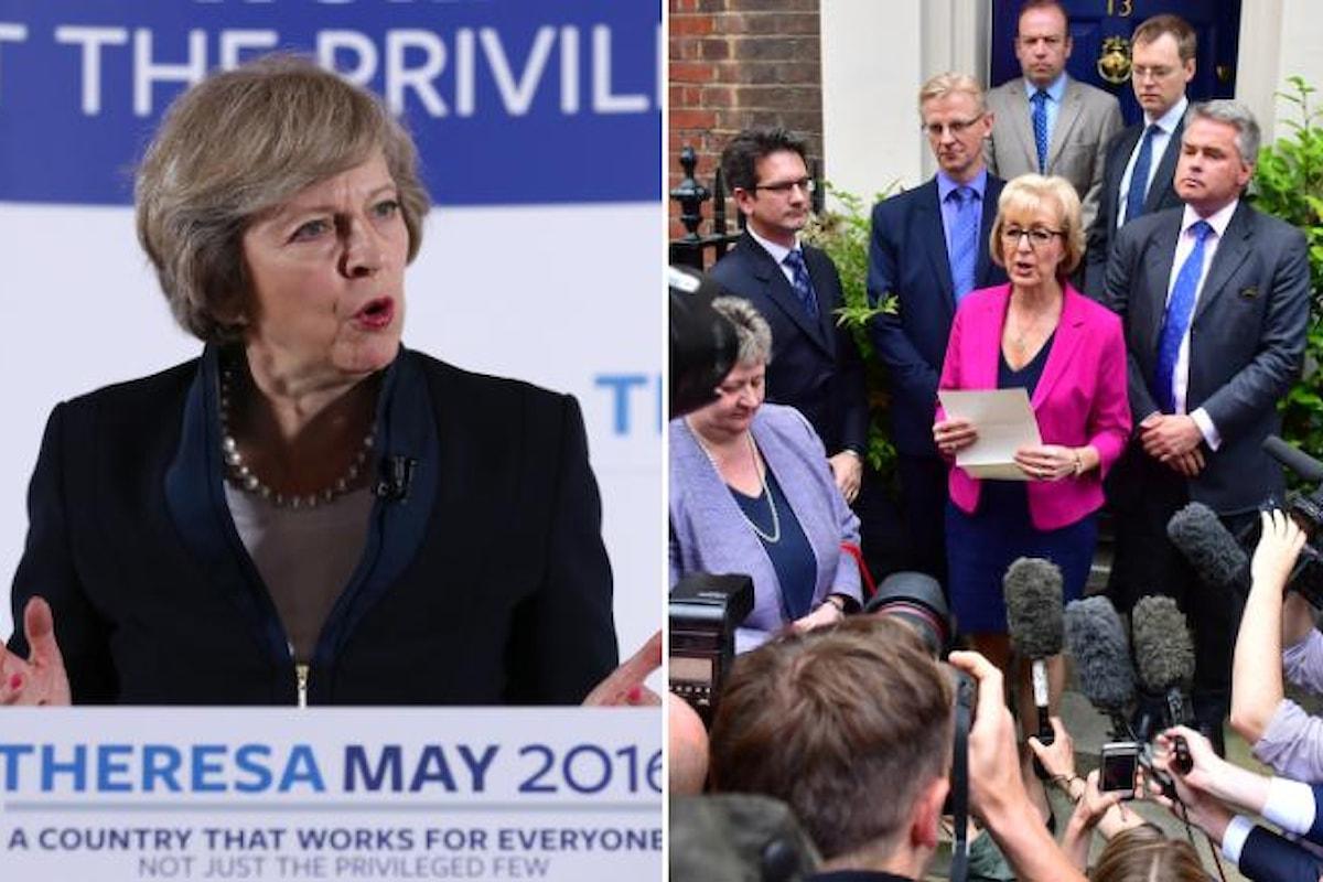 Andrea Leadsom ritira la candidatura alla successione di Cameron. Theresa May nuovo primo ministro