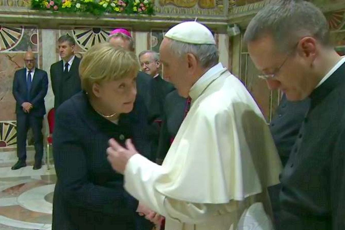 Bergoglio ricorda ai capi di Stato europei lo spirito vero dell'Unione