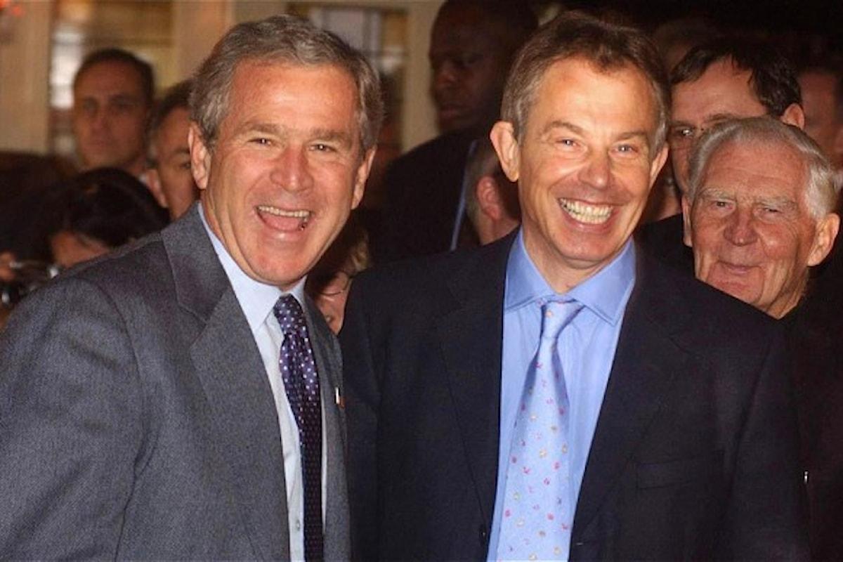 In una nota di Tony Blair a George Bush, i piani per un nuovo ordine mondiale post-Iraq