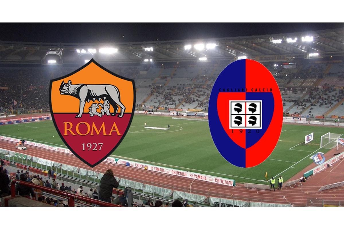 La cronaca minuto per minuto di Roma-Cagliari 1-0